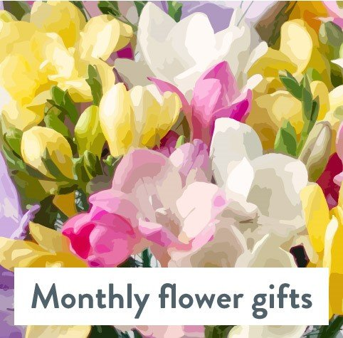 Hand Tied Monthly Flower Gift